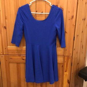 Express 3/4 Sleeve Blue Dress